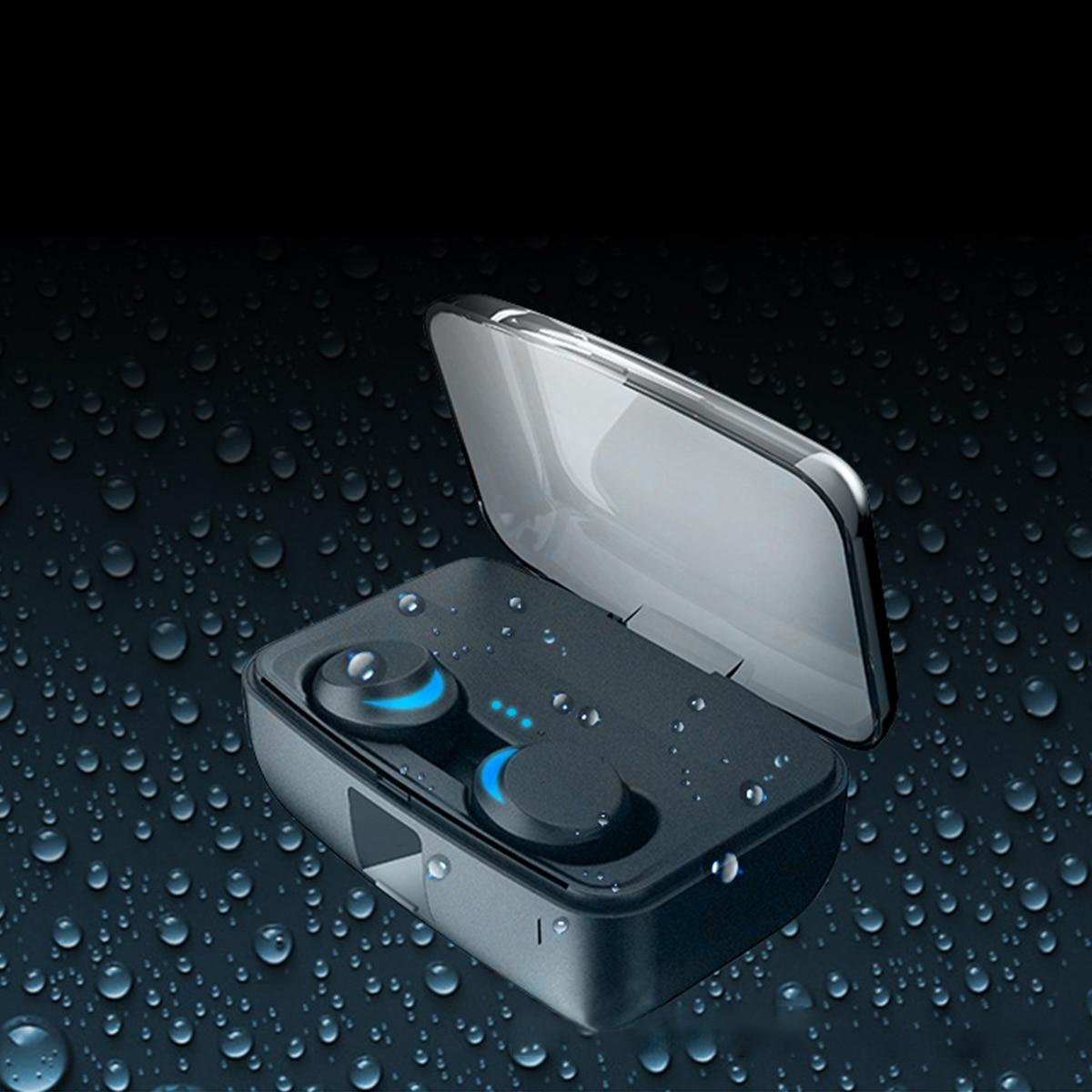 água redução ruído com microfone 3000mah caixa carregamento