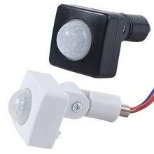 Capteur de mouvement infrarouge PIR automatique, 10MM, AC 85-265V, 160 degrés, pour mur extérieur