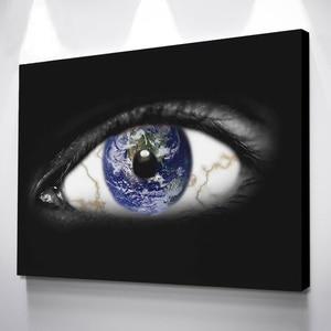 Hd imprime fotos decoração da casa 1 peça/pcs terra nos olhos quadros lona modular abstrato cartaz para o quarto parede arte quadro
