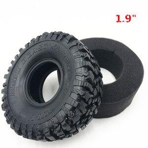 "Image 1 - 4PCS 120*48MM 1.9 ""Gummi Reifen Rad Reifen für 1:10 RC Rock Crawler Axial SCX10 SCX10 II 90046 90047 TAMIYA TRX 4 TRX4"