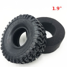 "4PCS 120*48MM 1.9"" Rubber Tyre Wheel Tires for 1:10 RC Rock Crawler Axial SCX10 SCX10 II 90046 90047 TAMIYA TRX 4 TRX4"