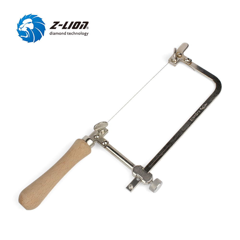 Z-LION 1PC Coping Saw Steel Frame With 2m Diamond Wire Saw Dry Wet Use For Wood Stone Jade Metal Cutting Multifunction Hand Tool
