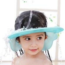 Crianças lavar o cabelo protetor viseira direta caps shampoo banho touca de chuveiro para crianças cuidados com o bebê doce adorável hipopótamos estilo chapéus do bebê