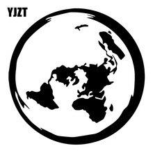 YJZT 16,2X16,2 см Планета Земля плоская карта индивидуальное украшение окна Переводные картинки наклейки для автомобиля C25-0649