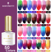 BORN PRETTY 50 Colors Thermal Gel Nail Polish 6ml Temperature Color Changing Soak Off UV Art Lacquer Varnish