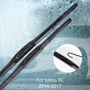 Wipers Blade For Lexus RC Series RC200t / RC300 / RC350 / RCF 2014 2015-2017 Car Accessories For Auto Rubber Windscreen Wiper(China)