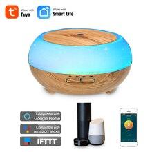 Smart Wifi inalámbrico 400 ml difusor aromaterapia Aroma difusor de aceite esencial humidificador de aire Compatible con Alexa y Google amazon Control de voz