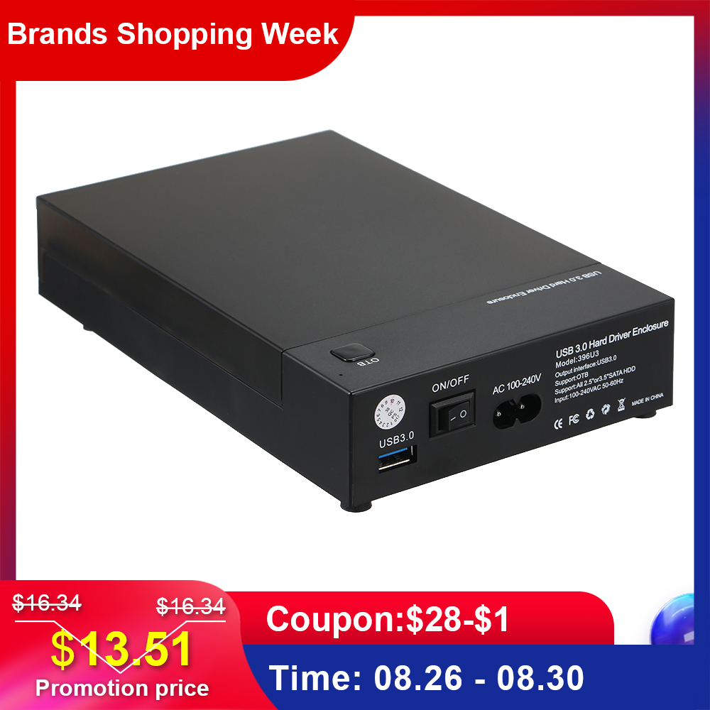 Disk Case-Box HDD Support 8tb-Drives OTB SSD External-Enclosure SATA Usb-3.0 One-Touch-Backup