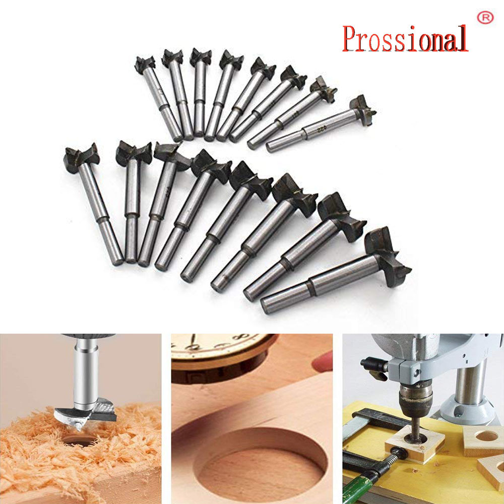16pcs Set Core Drill Bits Forstner Woodworking Hole Saw Wood Cutter For Rotary Tools 15-35mm