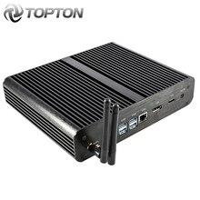 Topton мини-ПК без вентилятора i7 8565U 8550U виски озеро 4 ядра 8 нитей 2* DDR4 M.2 PCIe Мини компьютер Win 10 Pro DP HTPC