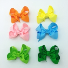 10pcs/lot 3 Inch Lovely Hair Bow Clip Cute Small Knot Hairpin Accessories Ornaments