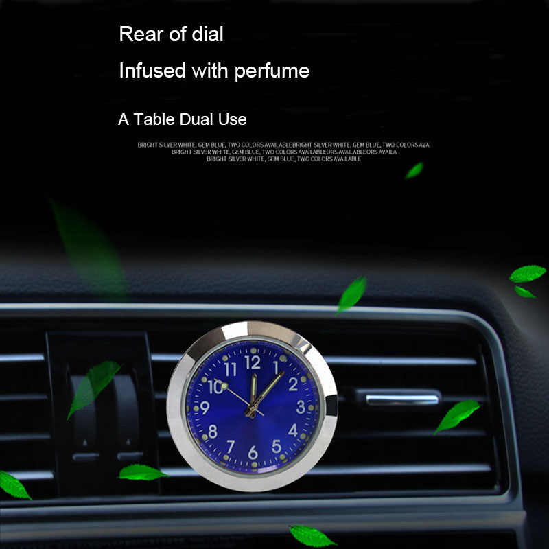 รถนาฬิกาLuminousมินิรถยนต์ภายในStick-ONนาฬิกากลศาสตร์นาฬิกาควอตซ์ยานยนต์จัดแต่งทรงผมอุปกรณ์เสริมของขวัญ