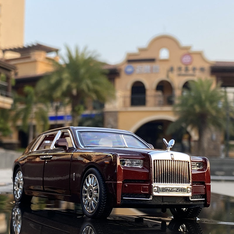 1:24 Rolls Royce Phantom Alloy Car Model Diecasts & Toy Vehicles Metal Car Model Collection Simulation Sound Light Kids Toy Gift 3