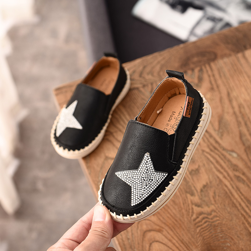 Children Leather Wedding Princess Boys Girls Flat Loafers Casual Breathable Kids Shoes Spring Summer School Shoes White Black