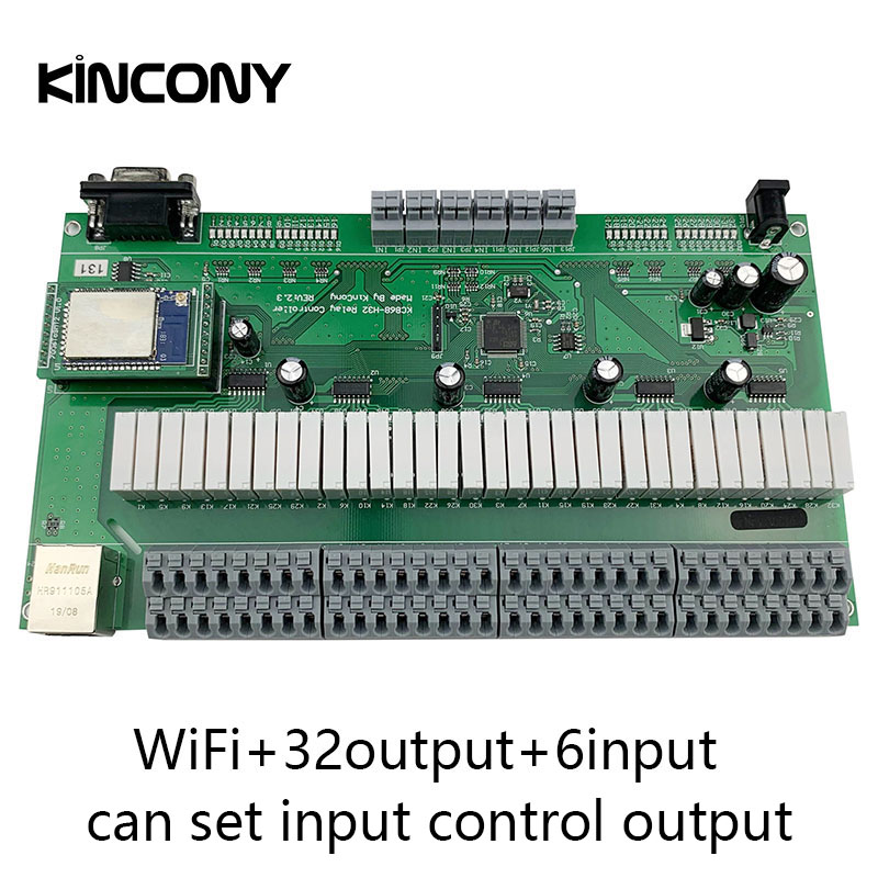 Kincony Domotica Hogar WiFi IP Relay Smart Home Automation Module Controller 32 Switch Control Channel 6CH Security Alarm Sensor