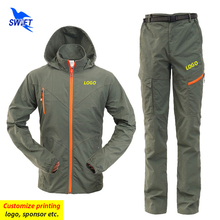 Trekking Hiking-Set Customize-Logo Camping Pants Outdoor Quick-Dry Breathable Women Jackets