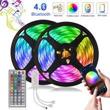 LED Bluetooth bande lumière 30m RGB 5050 ruban pour chambre plafond décor à la maison avec voix musique contrôle LED ruban Diode 12V adaptateur