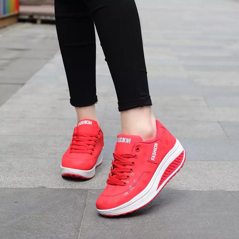 2020 Spring New Women Platform Rocking Shoes Casual Fashionable Womens Chunky Designer Sneakers Zapatillas Con Plataforma Mujer 3