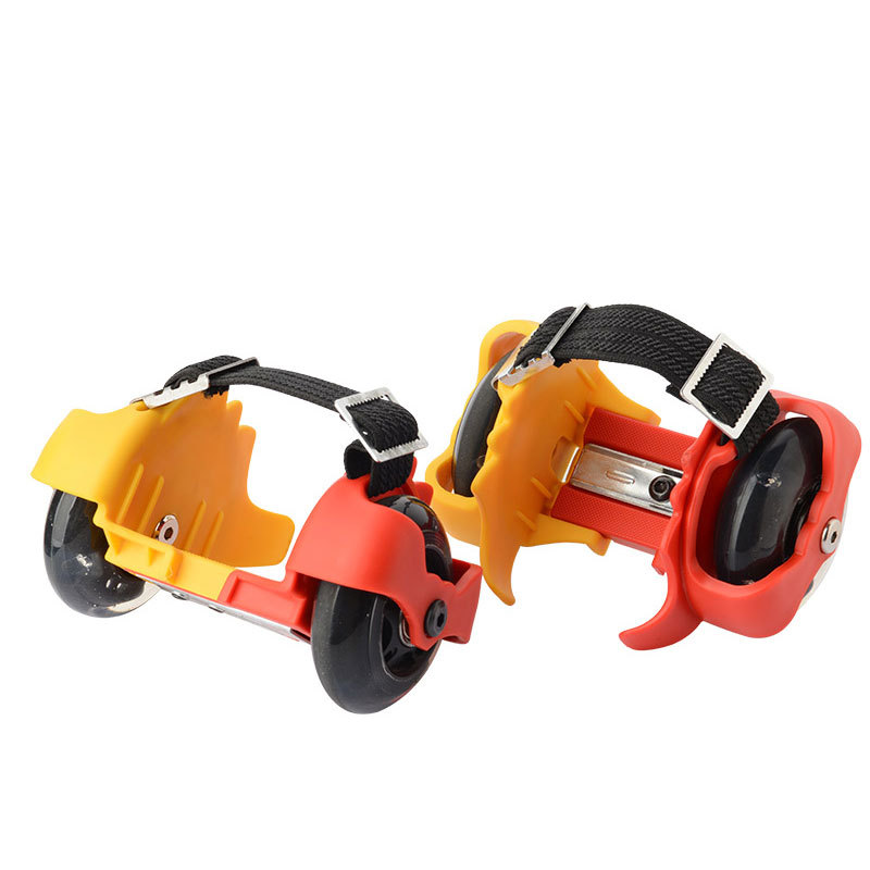 New Type Of Children's Roller Skates With Flame Wheels Mute Flash Children's Pulley Shoes Adjustable Roller Skates With Flame