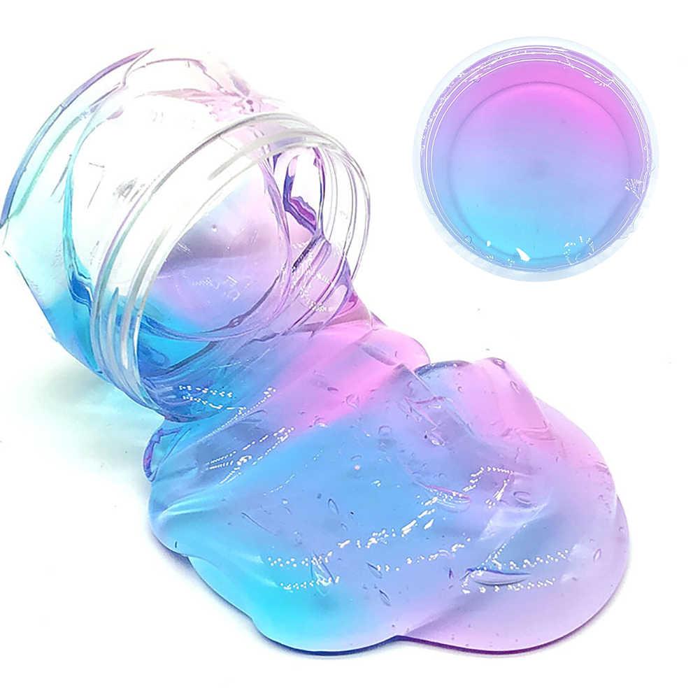 1pc Trasparente 60ML Bambini Melma Giocattolo Multicolore Trasparente di Cristallo Melma Elastico Argilla Alleviare Lo Stress Giocattolo Per Bambini di Colore Brillante