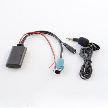 Biurlink-Adaptador de manos libres con micrófono y Cable Aux para coche, Radio,...