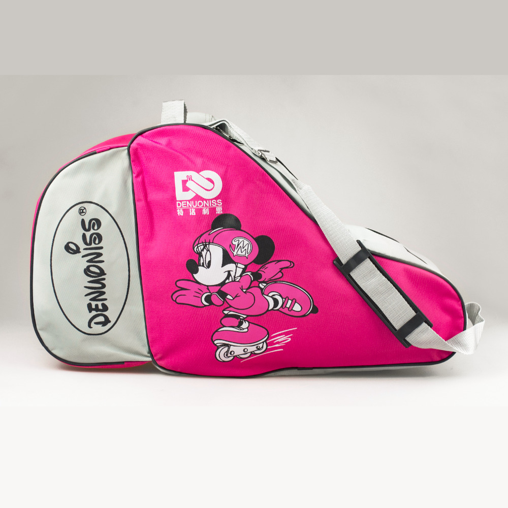 NEW Kids Adult Cute Cartoon Roller Skate Bag Portable Oxford Carry Bag Shoulder Bag Big Capacity Gift  55x22x33cm