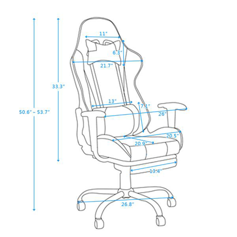 Office Chair Racing Chair Reclining Rotatable LOL Gaming Chair PU Leather Seat Office Armchair with Footrest
