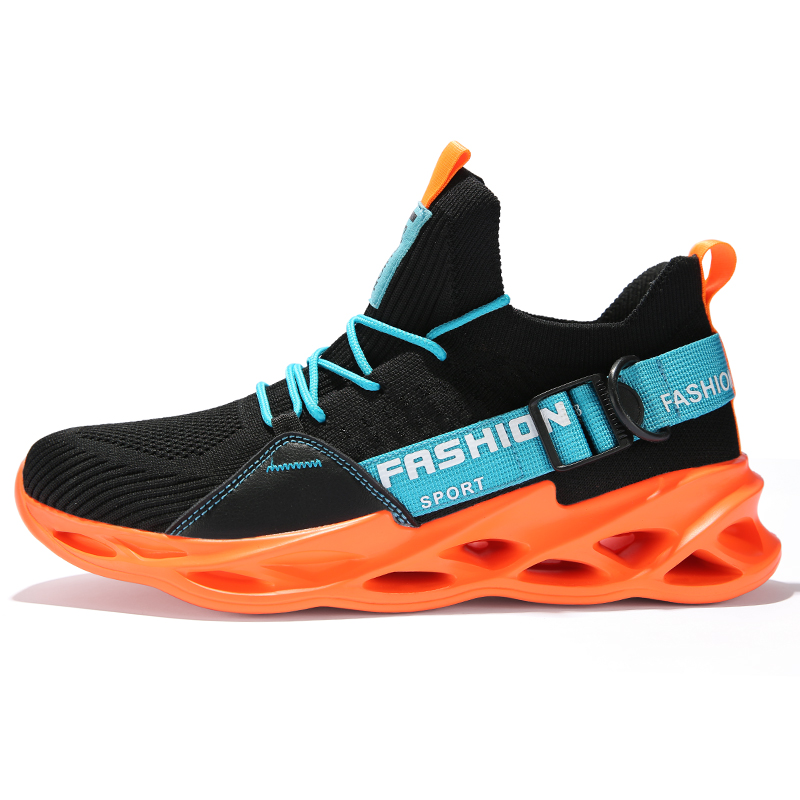 G133 Black Orange-Couples Sneakers Casual Breathable Comfortable Sport Running Shoes