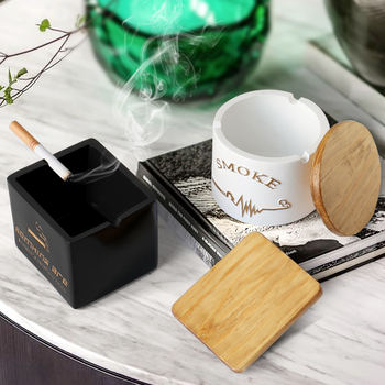 Resin moden windproof ashtray with