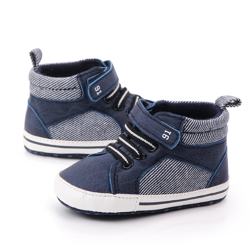 Baby Shoes Boy Newborn Infant Toddler Casual Comfor Cotton Sole Anti-slip PU Leather First Walkers Crawl Crib Moccasins Shoes