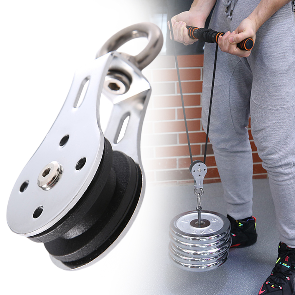 Traction Wheel Stainless Steel Silent Groove Durable 300KG Gym Block Bearing Lifting Pulley Training Accessories Hanging Fitness
