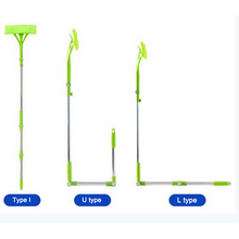цена на Multifunctional window cleaner telescopic rod double-sided window with auxiliary rod cleaning brush window scraping tool