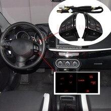 Interruptor de volante, controle de rádio de áudio para mitsubishi lancer ex 10 lancer x outlander asx colt pajero sport