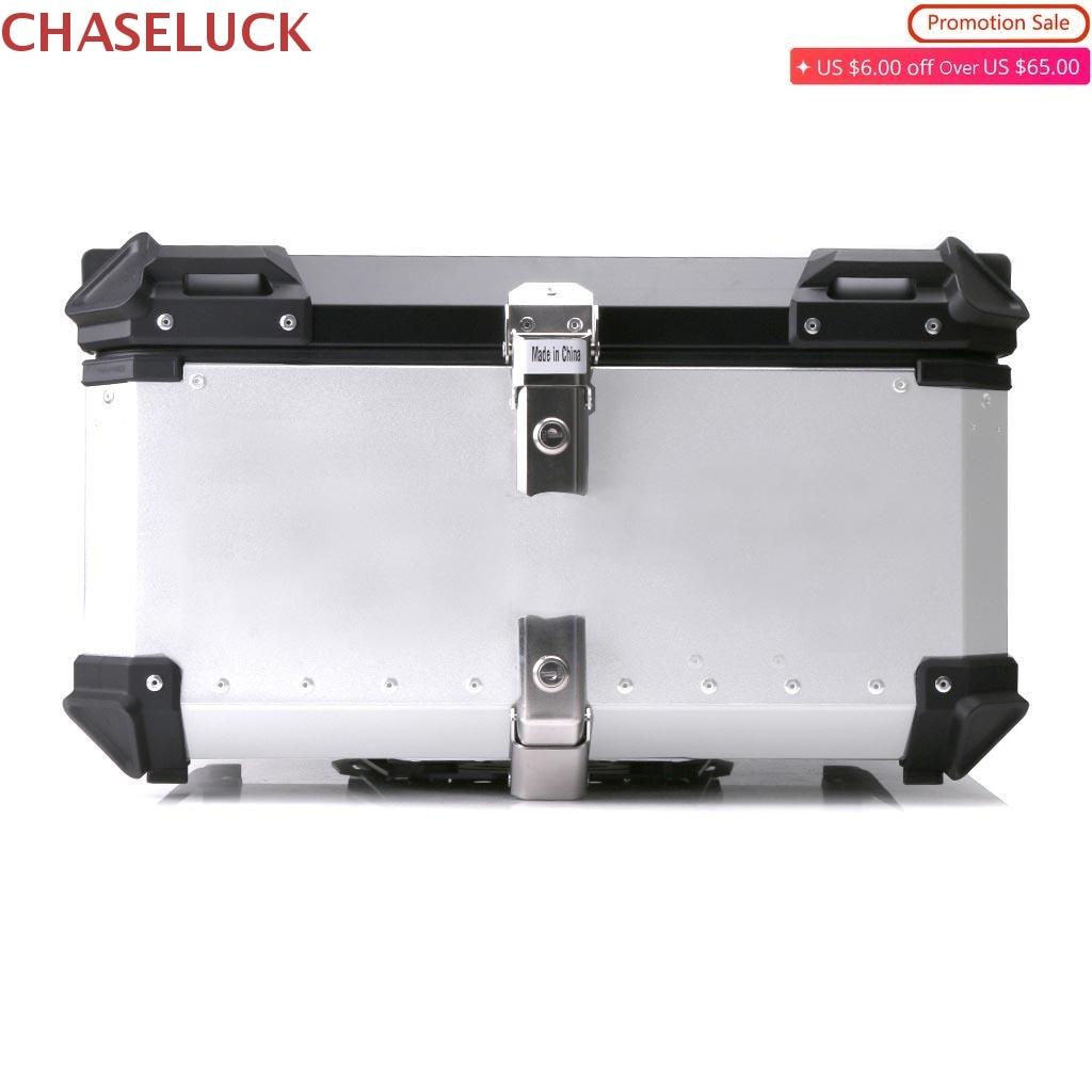 45L-65L Universal Motorcycle Rear Luggage Helmet Top Box Storage Key Tool Box Case Aluminum Trunk Boxes Waterproof Accessories