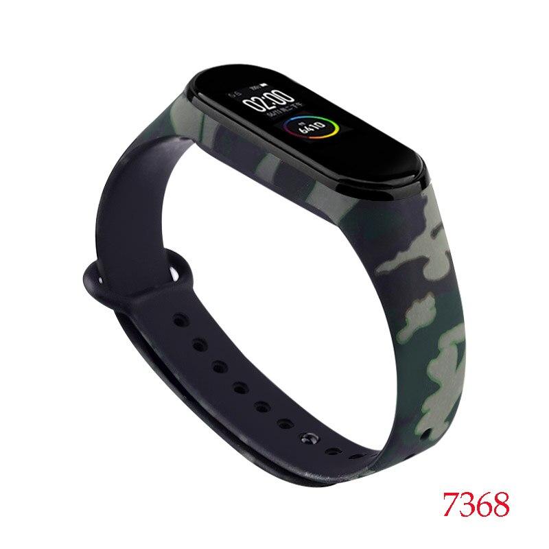 Для Xiaomi Mi Band 4/3 ремешок Металлическая пряжка силиконовый браслет аксессуары miband 3 браслет Miband 4 ремешок для часов М - Цвет: 7368