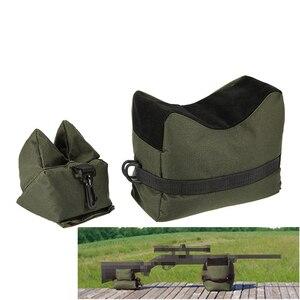 Tactical Rifle Gun Rest Outdoor Hunting Shooting Sandbag Bench Unfilled Rifle Gun Front Rear Bag Beach Hunting Rifle Accessories(China)