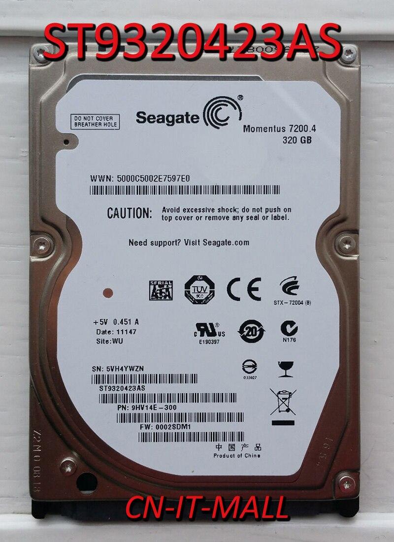 Внутренний жесткий диск для ноутбука Seagate Momentus 7200,4 ST9320423AS, 320 ГБ, 7200 об/мин, 16 Мб кэш, SATA 3,0, 2,5 дюйма