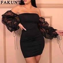 Женское платье fakuntn женская одежда 2021 сексуальные платья