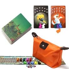 Mini sagen geschichte deck 11 bord spiele, insgesamt 78 karten, holz bunny bildung spielzeug für kinder phantasie home party tisch karte spiele