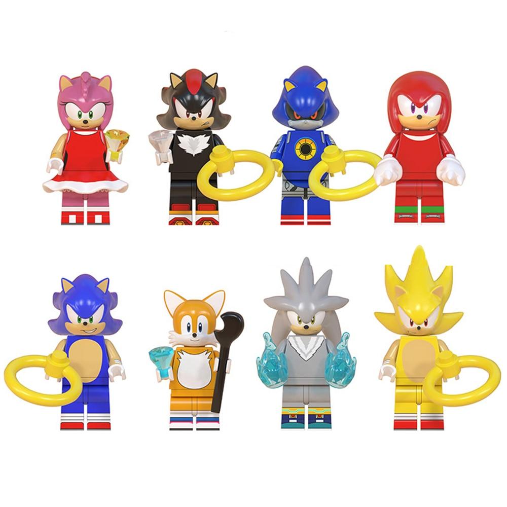 Набор из 8 предметов, супер серия, Sonicing Amy Rose, совместимые блоки LEGO, тени, кулак ежа, экшн, мини игрушка для детей, подарок|Блочные конструкторы|   | АлиЭкспресс