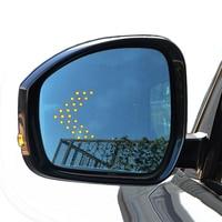 Porta lateral espelho traseiro de vidro led sinal luz seta dinâmica aquecida azul grande angular anti deslumbrar para land range rover velar esporte|Espelho e capas| |  -