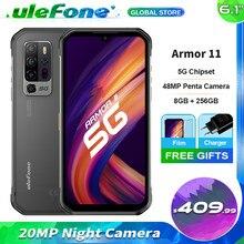 Чехол-накладка Ulefone Armor 11 смартфон Dimensity 800 8 Гб Оперативная память 256 ГБ Встроенная память 48MP пятиядерный ГП сзади Камера 5200 мА/ч, Батарея 6,1 ''Э...