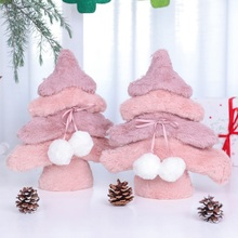2020 New Plush Christmas Tree Decorative Desktop Ornament Xmas Holiday Gift Fest