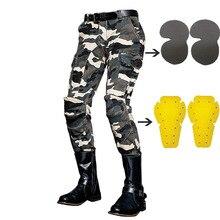 Штаны для мотокросса, камуфляжные джинсы для отдыха, мото rcycle, Мужские штаны для улицы, защитные наколенники, мото джинсы, одежда