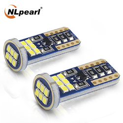 Nlpearl 2X Signal Lamp W5W LED T10 LED Bulbs 6500K18 Led 2010 SMD for Car Interior Map Dome Lights License Plate Light 12V White