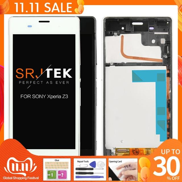 ORIGINAL For SONY Xperia Z3 Compact Display Frame Z3 Mini D5803 D5833 Replacement Display For SONY Xperia Z3 LCD D6603 D6633