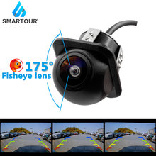 Smartour hd 175 graus fisheye lente luz das estrelas visão noturna cvbs frente/câmera de backup reversa para android carro dvd monit 1296*1080p