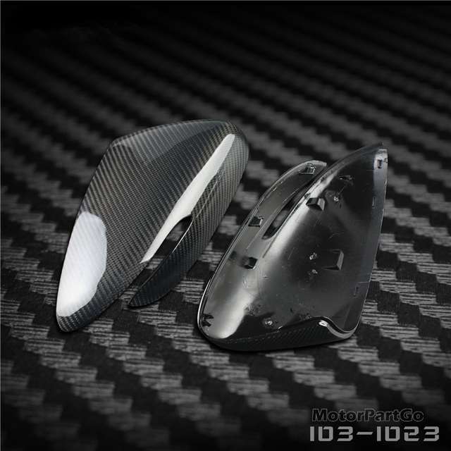 Real Crabon Fiber Mirror Cover Exchange original 1 pair for Kia K3 with turn signal 2014-2017 T250M 6