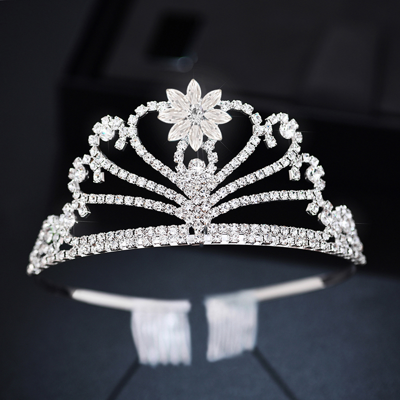 2PCs Wedding Tiara Children 39 s Crown Girl Decoration for Hair Diadem Girls Bridal Crown Accessories Princess Headband Jewelry in Hair Jewelry from Jewelry amp Accessories