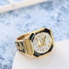 Винтаж золото Цвета Морган кольца с изображением Орла для Для